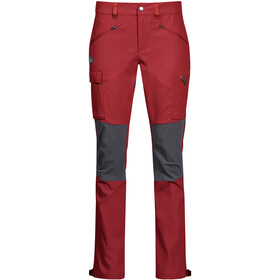 Bergans Nordmarka Hybrid Broek Dames, red sand/solid dark grey
